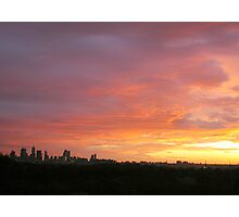 Melbourne Sunset - Winter 2011 Photographic Print
