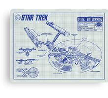 Star Trek U.S.S. Enterprise Canvas Print