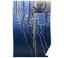 Boat Reflections Poster