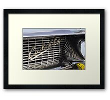 Cadillac grille Framed Print