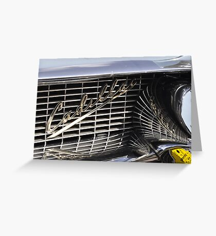 Cadillac grille Greeting Card