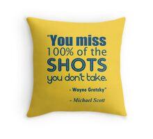 Gretzky Quote Throw Pillow