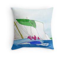 British seascape Throw Pillow