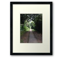 New path everyday - Colombia Framed Print