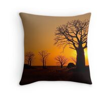 Sunset on Derby Mud Flats Throw Pillow