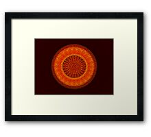 Shell-in-Cork Mandala Framed Print