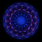 After Midnight Glow Mandala (wide) by Richard H. Jones