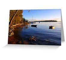 Carlo Point, Rainbow Beach at sunset. Queensland, Australia. (2) Greeting Card