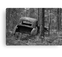 I'll be back in five... B&W Canvas Print