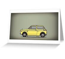 Honda N360 Yellow Kei Car Greeting Card