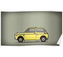 Honda N360 Yellow Kei Car Poster