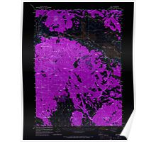USGS Topo Map Oregon Bly 282262 1960 62500 Inverted Poster