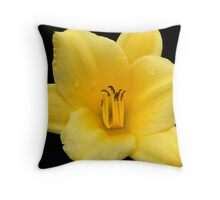 Inspired by Nature: Large Yellow Lily Throw Pillow
