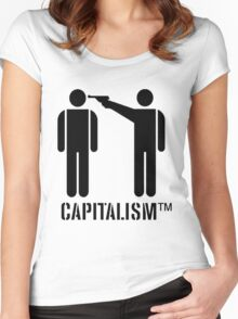 Capitalism Women's Fitted Scoop T-Shirt