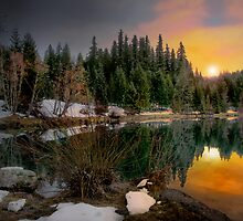 Just A Touch Of Light ~Trail Bridge Reservoir ~ by Charles & Patricia   Harkins ~ Picture Oregon