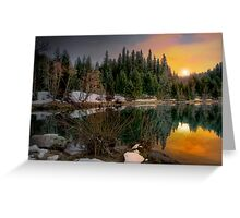 Just A Touch Of Light ~Trail Bridge Reservoir ~ Greeting Card