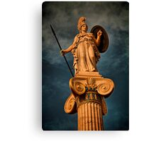 Greece. Athens. The statue of Athena. Canvas Print
