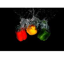 Pepper Action Photographic Print