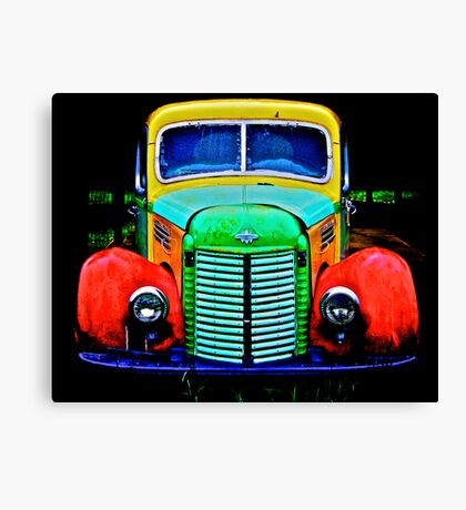 Farm Stand Truck Canvas Print
