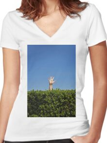 waving not drowning Women's Fitted V-Neck T-Shirt