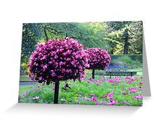 Garden of Flowers & Trees Greeting Card