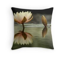 Soft Island Above Water Throw Pillow