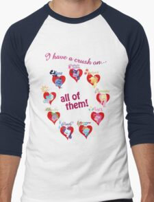 I have a crush on... all of them! Men's Baseball ¾ T-Shirt