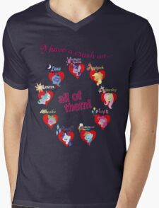 I have a crush on... all of them! Mens V-Neck T-Shirt