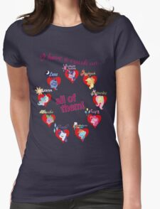 I have a crush on... all of them! Womens Fitted T-Shirt