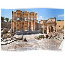 Celsus Library and Gate of Augustus Poster