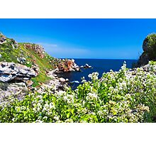 white spring on the coast Photographic Print