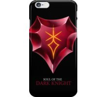 Soul of the Dark Knight -black iPhone Case/Skin