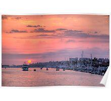 Sunset Harbor Cruise Poster