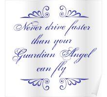 Guardian Angel Humor Poster