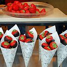 Strawberries in Belgian chocodip by Arie Koene