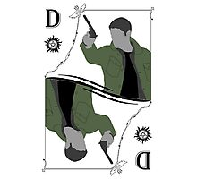 Dean Winchester Playing Card Photographic Print