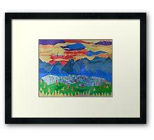 Golden Forested Landscape Framed Print