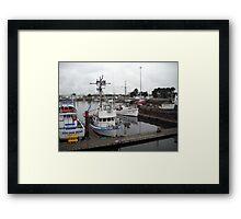 Harbor Scene Framed Print