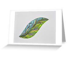 Feathers/4 - Solo Greeting Card