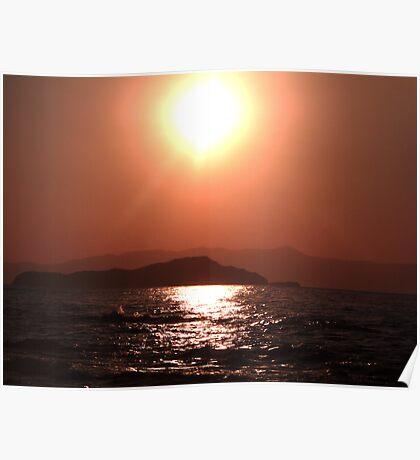 Greek Sunset - Crete Poster