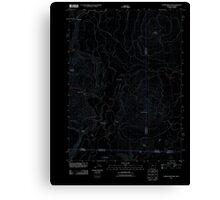 USGS Topo Map Oregon Parker Mountain 20110812 TM Inverted Canvas Print