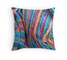 French Knitting Throw Pillow