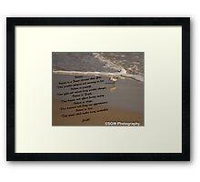 Believe...Faith, Hope, and Love. Framed Print