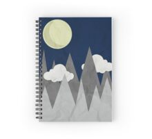Moon in the Mountains Spiral Notebook
