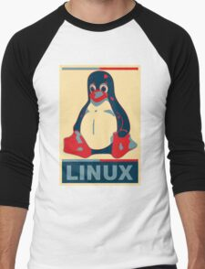 Linux Tux Men's Baseball ¾ T-Shirt