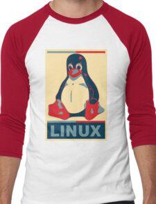 Linux Tux Men's Baseball ¾ T-Shirt