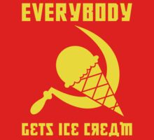 Everybody Gets Ice Cream - Yellow by Ryan Sawyer