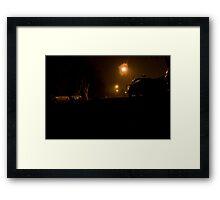 The Neighborhood at Night Framed Print