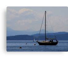 sailing layers of blue Canvas Print