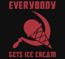 Everybody Gets Ice Cream - Red by Ryan Sawyer